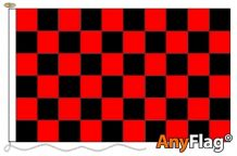 RED AND BLACK CHECK ANYFLAG RANGE - VARIOUS SIZES